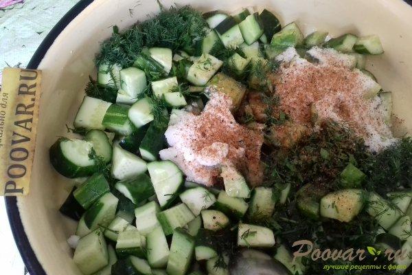 Салат из огурцов с горчицей на зиму Шаг 7 (картинка)