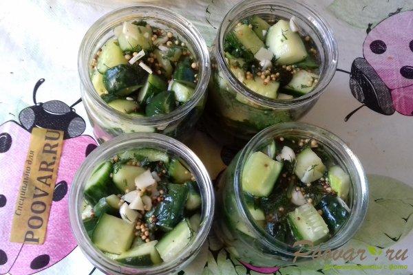 Салат из огурцов с горчицей на зиму Шаг 10 (картинка)