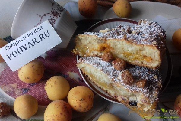 Пирог с абрикосовой начинкой и творогом Изображение