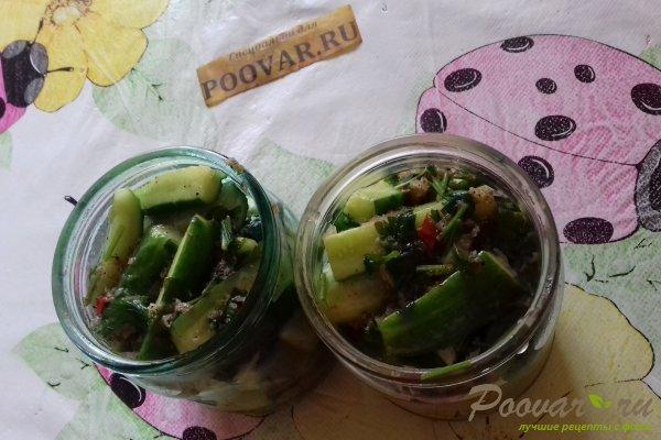 Салат из огурцов острый на зиму Шаг 8 (картинка)