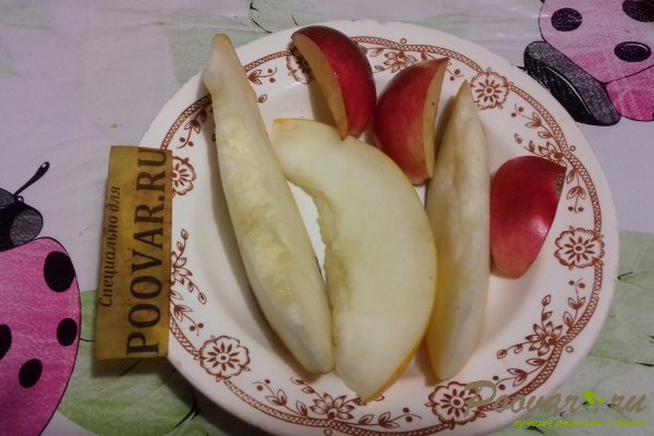 Маковые оладьи с яблоком и дыней Шаг 2 (картинка)