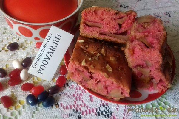 Цветной пирог с тыквой и яблоками Изображение