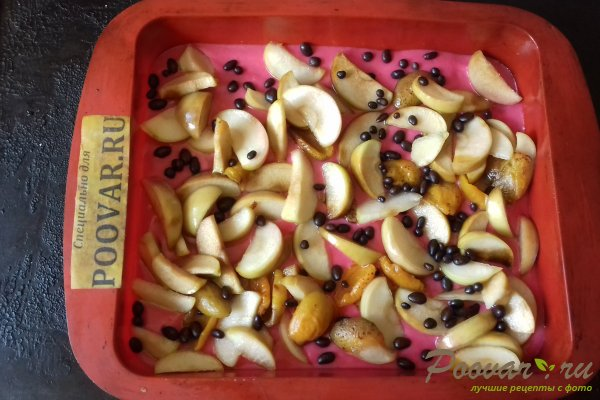 Цветной пирог с тыквой и яблоками Шаг 9 (картинка)