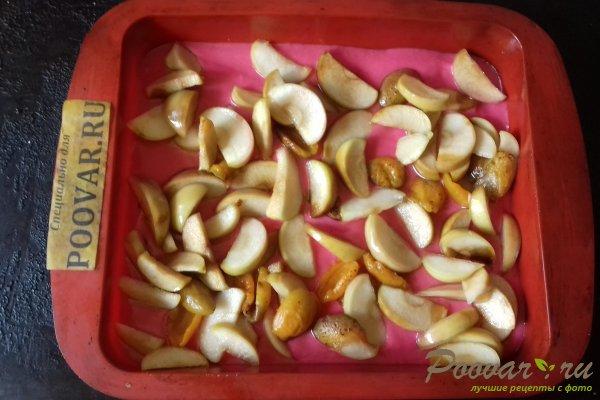 Цветной пирог с тыквой и яблоками Шаг 8 (картинка)