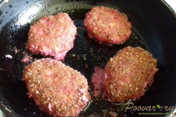 Мясные котлеты с кабачками и свёклой Шаг 8 (картинка)