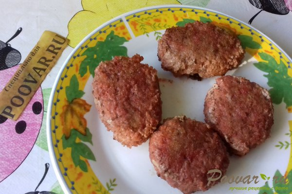 Мясные котлеты с кабачками и свёклой Шаг 9 (картинка)