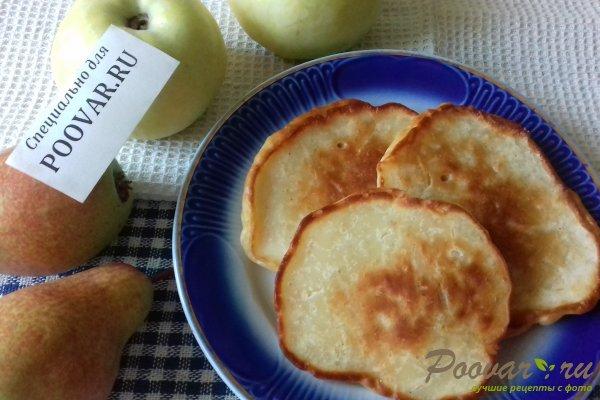 Оладьи с яблоками и грушами Шаг 10 (картинка)