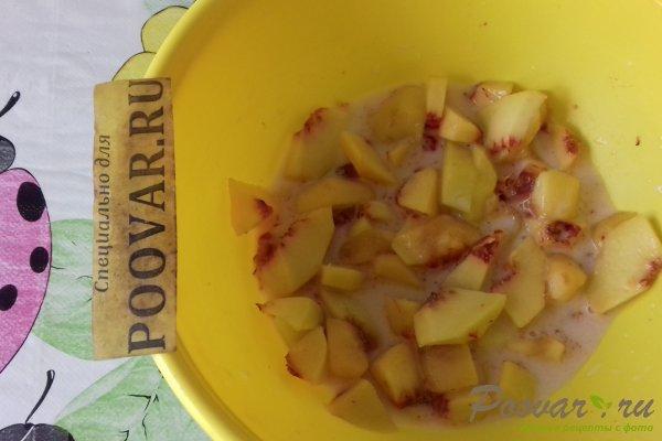 Пирог с персиками и яблоками Шаг 4 (картинка)