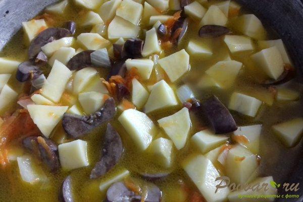 Картофель тушёный с почками Шаг 11 (картинка)