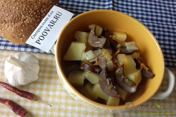 Картофель тушёный с почками Шаг 14 (картинка)