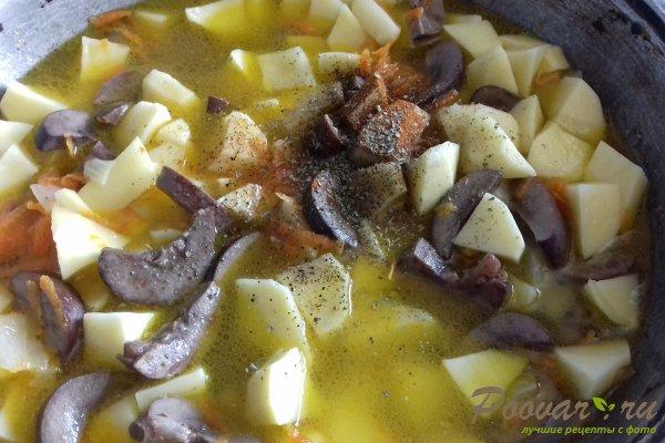 Картофель тушёный с почками Шаг 12 (картинка)