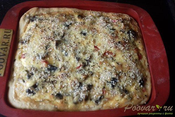 Пирог с начинкой из баклажан и сыра Шаг 18 (картинка)