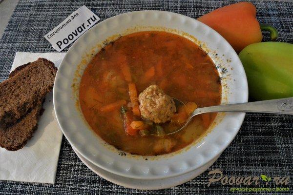 Суп с фрикадельками в мультиварке-скороварке Изображение