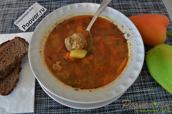 Суп с фрикадельками в мультиварке-скороварке Шаг 16 (картинка)