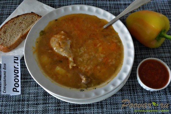 Куриный суп с рисом в мультиварке-скороварке Изображение