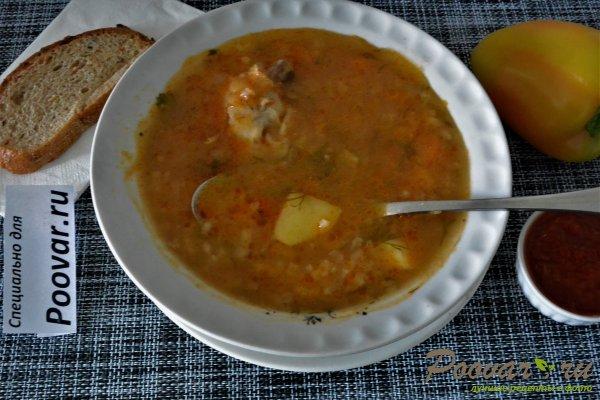 Куриный суп с рисом в мультиварке-скороварке Шаг 15 (картинка)