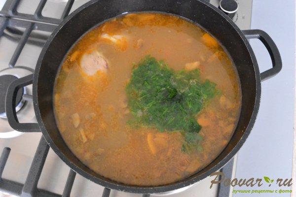 Куриный суп с грибами и фасолью Шаг 13 (картинка)