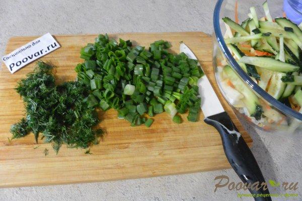 Овощной салат с яйцом и сыром Шаг 5 (картинка)