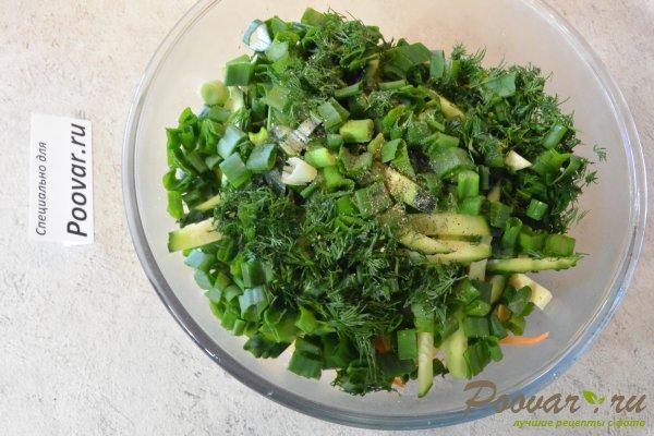 Овощной салат с яйцом и сыром Шаг 6 (картинка)