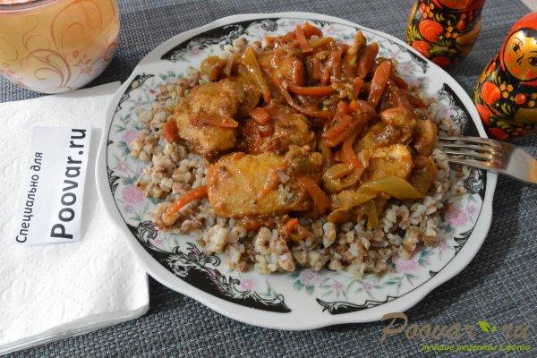 Куриное филе с овощами на сковороде Шаг 11 (картинка)