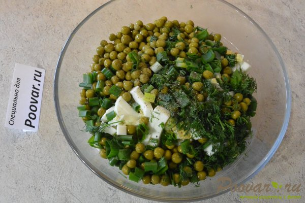 Салат из курицы с зелёным горошком и яйцом Шаг 11 (картинка)