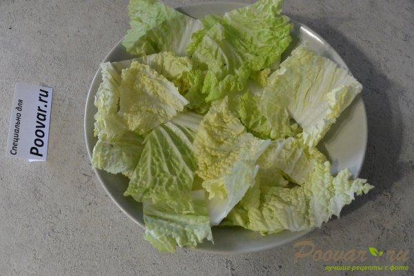 Салат из курицы с зелёным горошком и яйцом Шаг 14 (картинка)