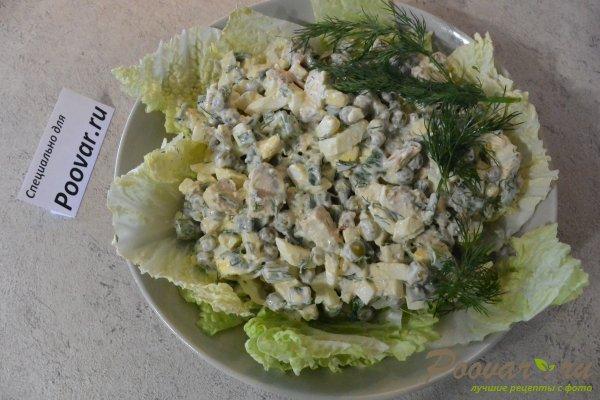 Салат из курицы с зелёным горошком и яйцом Шаг 15 (картинка)
