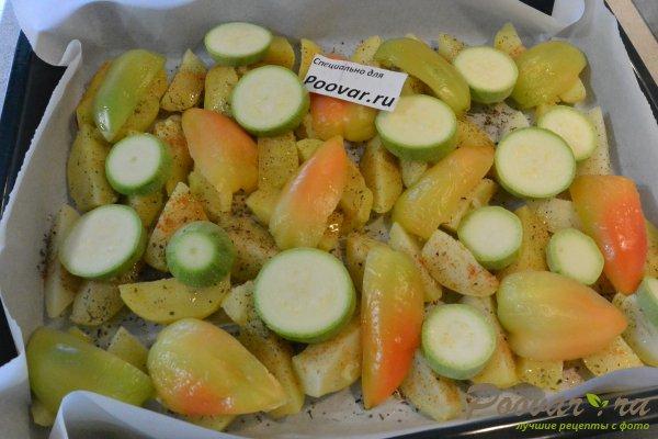 Курица, запечённая с овощами в духовке Шаг 8 (картинка)