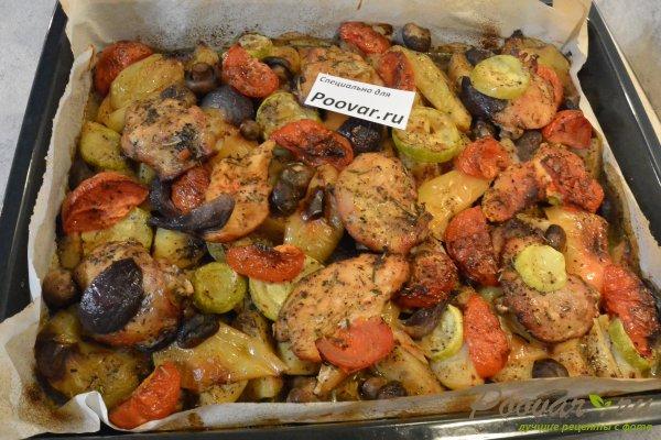 Курица, запечённая с овощами в духовке Шаг 15 (картинка)