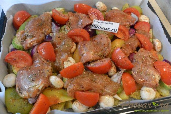 Курица, запечённая с овощами в духовке Шаг 13 (картинка)