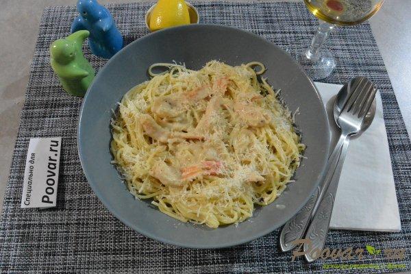 Спагетти с креветками и сыром Шаг 15 (картинка)