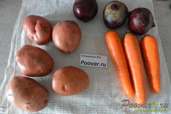 Салат мимоза из запеченных овощей Шаг 1 (картинка)