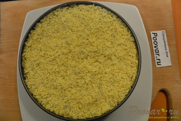 Салат мимоза из запеченных овощей Шаг 17 (картинка)