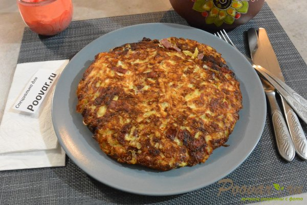 Пирог из лаваша с овощами и мясом Изображение