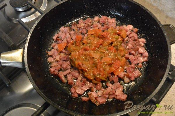 Пирог из лаваша с овощами и мясом Шаг 4 (картинка)