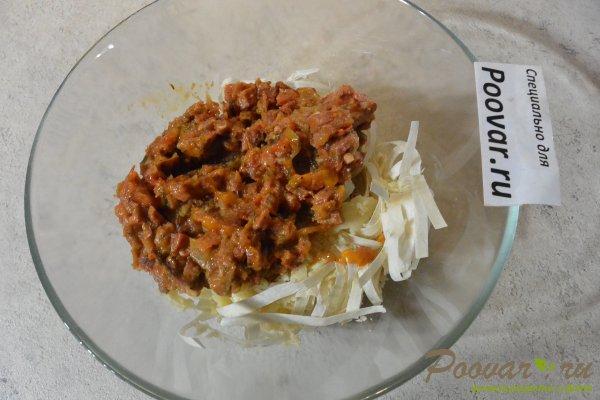 Пирог из лаваша с овощами и мясом Шаг 8 (картинка)