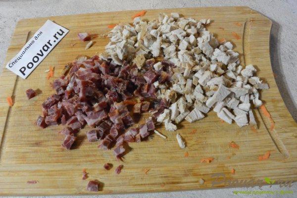 Рулетики из лаваша с капустой и колбасой Шаг 3 (картинка)