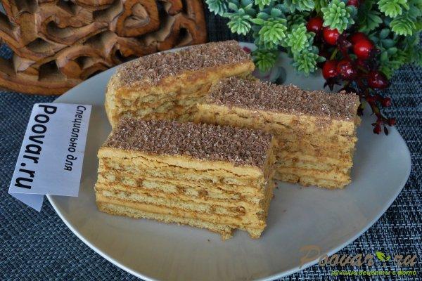 Торт из печенья с кремом из сгущенки и масла Изображение