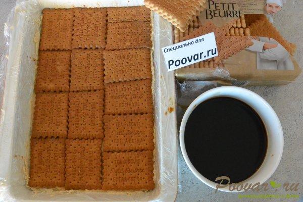 Торт из печенья с кремом из сгущенки и масла Шаг 14 (картинка)