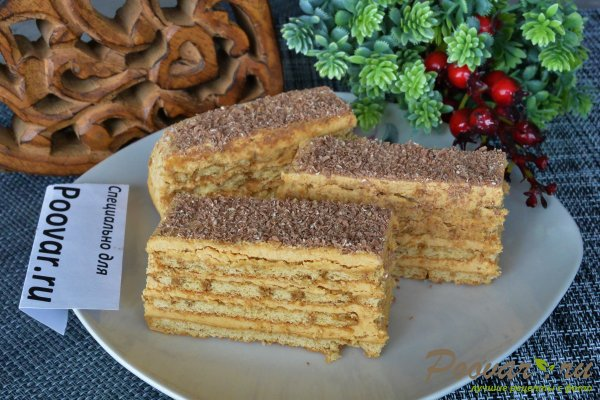 Торт из печенья с кремом из сгущенки и масла Шаг 19 (картинка)