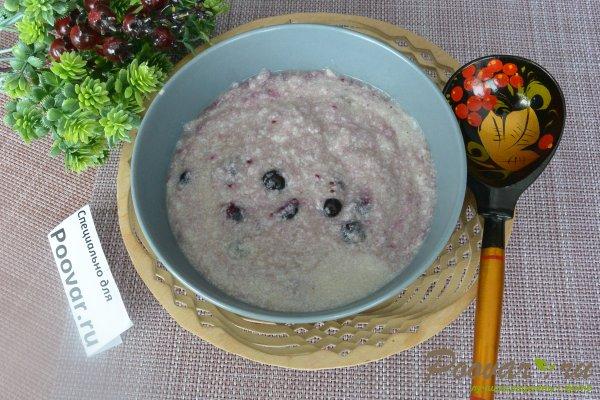 Каша из жареной манной крупы с ягодами Шаг 12 (картинка)