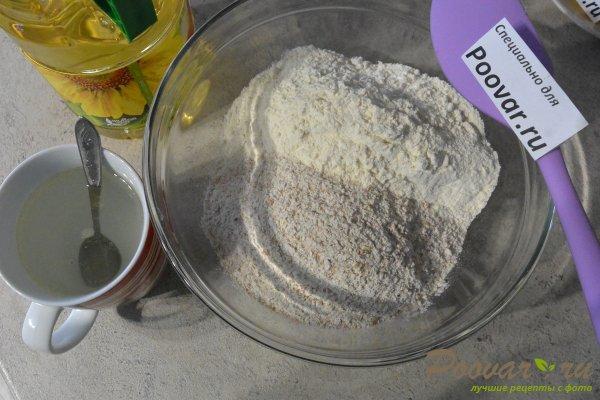 Пресные лепешки на сковороде из отрубной муки Шаг 1 (картинка)