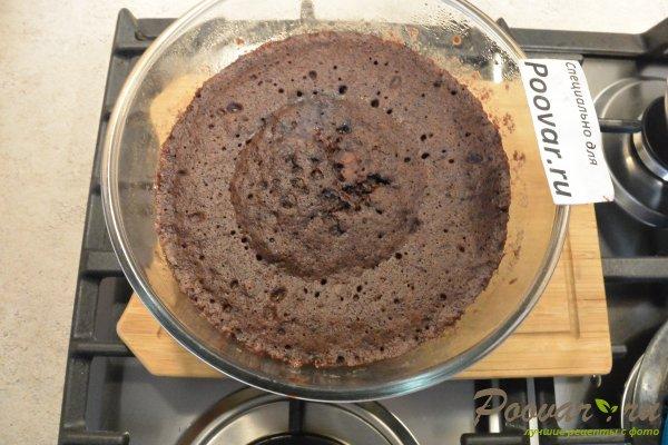 Бисквитный торт с кремом в микроволновке Шаг 10 (картинка)