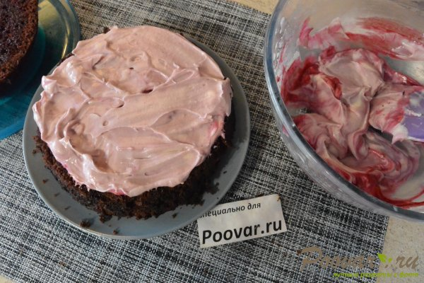 Бисквитный торт с кремом в микроволновке Шаг 17 (картинка)