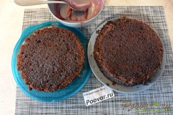 Бисквитный торт с кремом в микроволновке Шаг 16 (картинка)