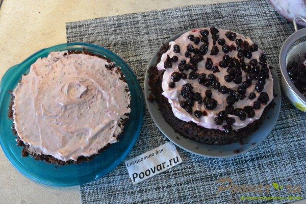 Бисквитный торт с кремом в микроволновке Шаг 18 (картинка)