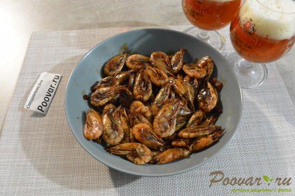 Жареные креветки с чесноком в соевом соусе Изображение