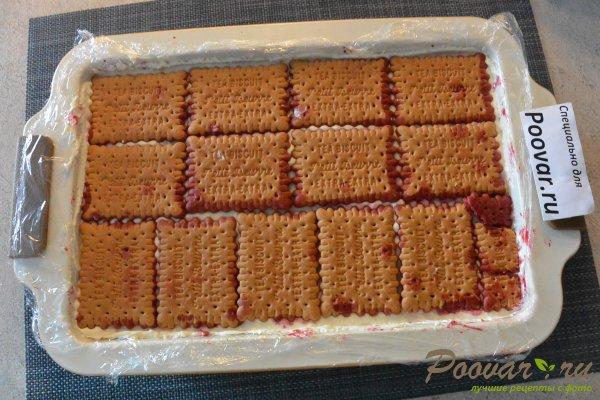 Торт без выпечки из печенья с вишней и кремом Шаг 14 (картинка)