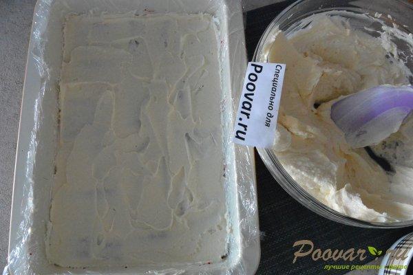 Торт без выпечки из печенья с вишней и кремом Шаг 13 (картинка)