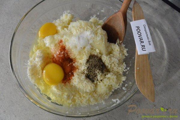 Лепешки из картофельного теста с сыром Шаг 6 (картинка)